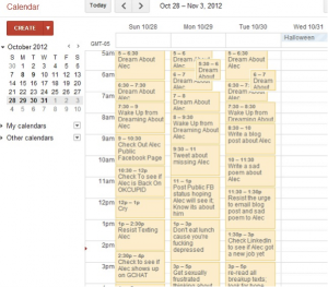 If necessary, use a Google calendar to stay organized.